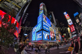 A fisheye view of Times Square