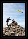 Summit cairn on Brace Mountain