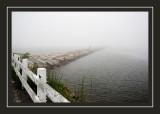 Breakwater in the morning fog