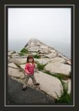 Norah on the breakwater