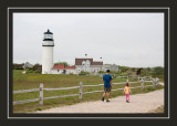 Steve and Norah heading to the lighthouse