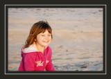 Norah enjoying the beach