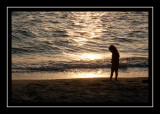 Norah at sunset