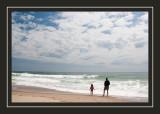 Kathy and Norah at Nauset Beach