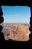 View of the canyon from the top of the tower