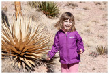 Norah loves the yucca plants!