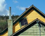 Como Yellow  & Green House Window