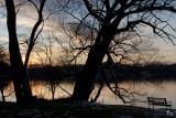 Hamburg Lake at sunset