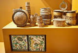 Wooden Vessels And  Ceramic Tiles