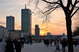 Winter Sunset In The City