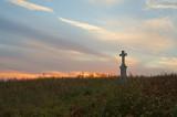 Wayside Cross At Sunset