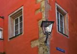 Red Corner Lamp