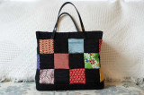 Quilted silk bag. (size 25 x 20) 2011