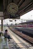 Waiting for a train in Gifu