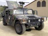 Hummer with machine gun