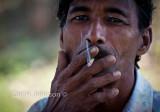 engaging in smoking