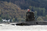 HMS Vigilant on the River Clyde 6th May 2012