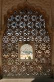 Superb screen with fenestration, Amber Fort