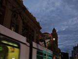 flinders street station & a passing tram