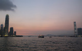 sunset, harbour and the tale of two skyscrapers...