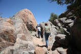 The Trail is Surrounded by Pink Granite