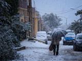 Il neige sur Cheraga (fevrier 2012)