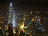 Kuala Lumpur night view Petronas Towers