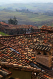 View  over the tiles and vineyards