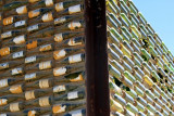 Building made of Wine bottles