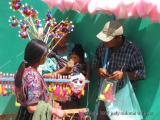 cotton candy seller, solola, guatemala