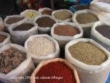 grain and spice at the market, antigua, guatemala