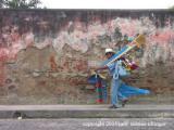 vendor walking, antigua, guatemala