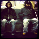 Two Men, C Train, Tuesday