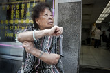 Woman Outside Salon