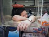 Sleeping Vendor #50088