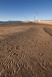 Sand ripples and construction work