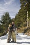 tortolitos en la nieve (calzada romana, Cercedilla)