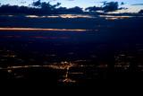 Segovia de noche, desde Peñalara