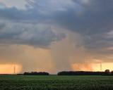 Rain over Hunters Creek subdivision