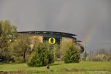 Rainbow at Autzen Stadium