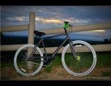 My New  Mongoose Bike at Sunset
