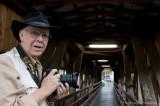 Vern in a covered bridge