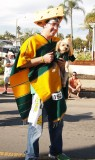 Greenbay Packer fan and his dog