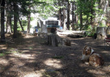 Camping in a Freebie Site on the Road to Eagle Lakes