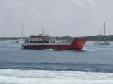Car/Cargo ferry Ofiusa Nova approaching La Savina - June 2011