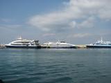 Three Main Ferry Operators at La Savina - September 2011