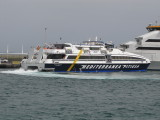 Blau de Formentera's Jets Manouvering Her Into The Berth