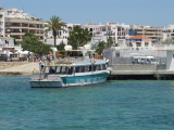 New Jetty at Santa Eulalia with Es Cana Ferry Waiting