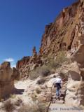 Janna Climbing up to Pueblo
