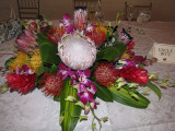 Protea in the Wedding Centerpiece